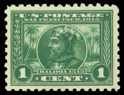 Prices of US Stamps Scott Catalogue #401: 1c 1915 Panama-Pacific Exposition. Daniel Kelleher Auctions, Dec 2014, Sale 661, Lot 331
