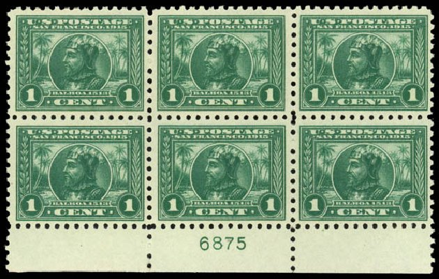 Prices of US Stamp Scott Catalog 401: 1915 1c Panama-Pacific Exposition. Daniel Kelleher Auctions, Jan 2015, Sale 663, Lot 1755