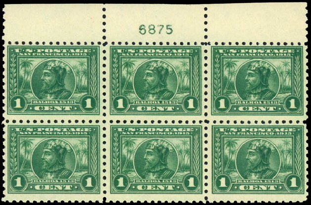 Costs of US Stamp Scott Catalog 401: 1915 1c Panama-Pacific Exposition. Daniel Kelleher Auctions, Dec 2013, Sale 640, Lot 362
