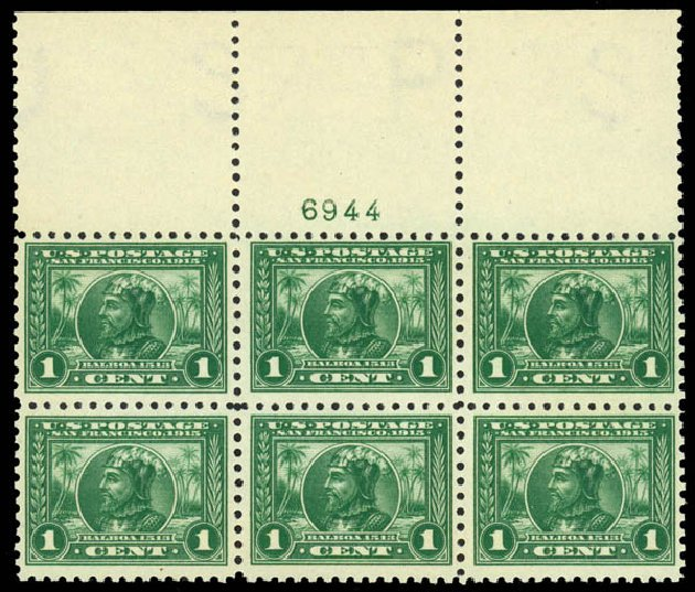 US Stamp Price Scott Cat. # 401: 1915 1c Panama-Pacific Exposition. Daniel Kelleher Auctions, Mar 2014, Sale 648, Lot 2242