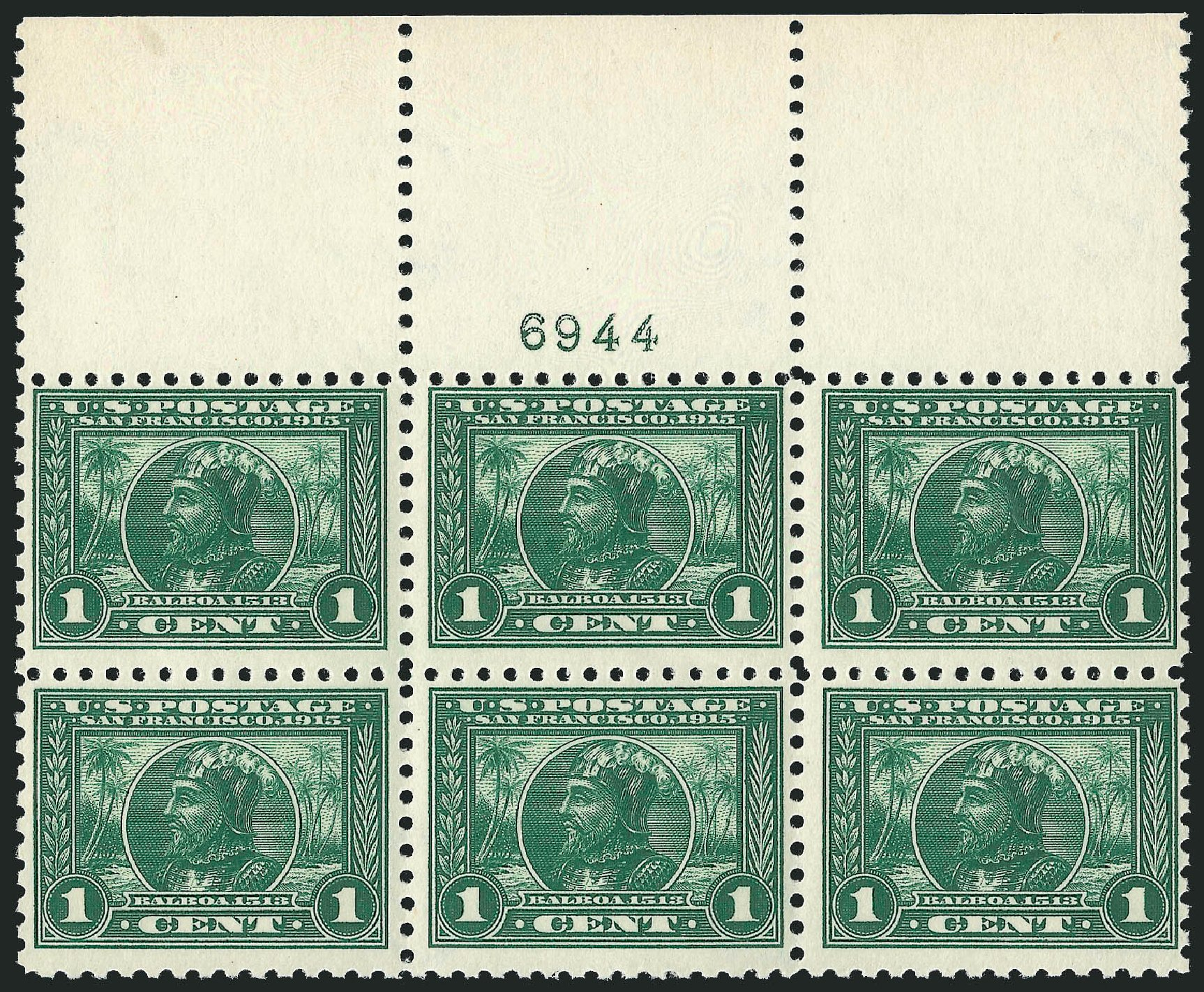 US Stamps Price Scott Catalogue 401: 1915 1c Panama-Pacific Exposition. Robert Siegel Auction Galleries, Oct 2014, Sale 1082, Lot 453