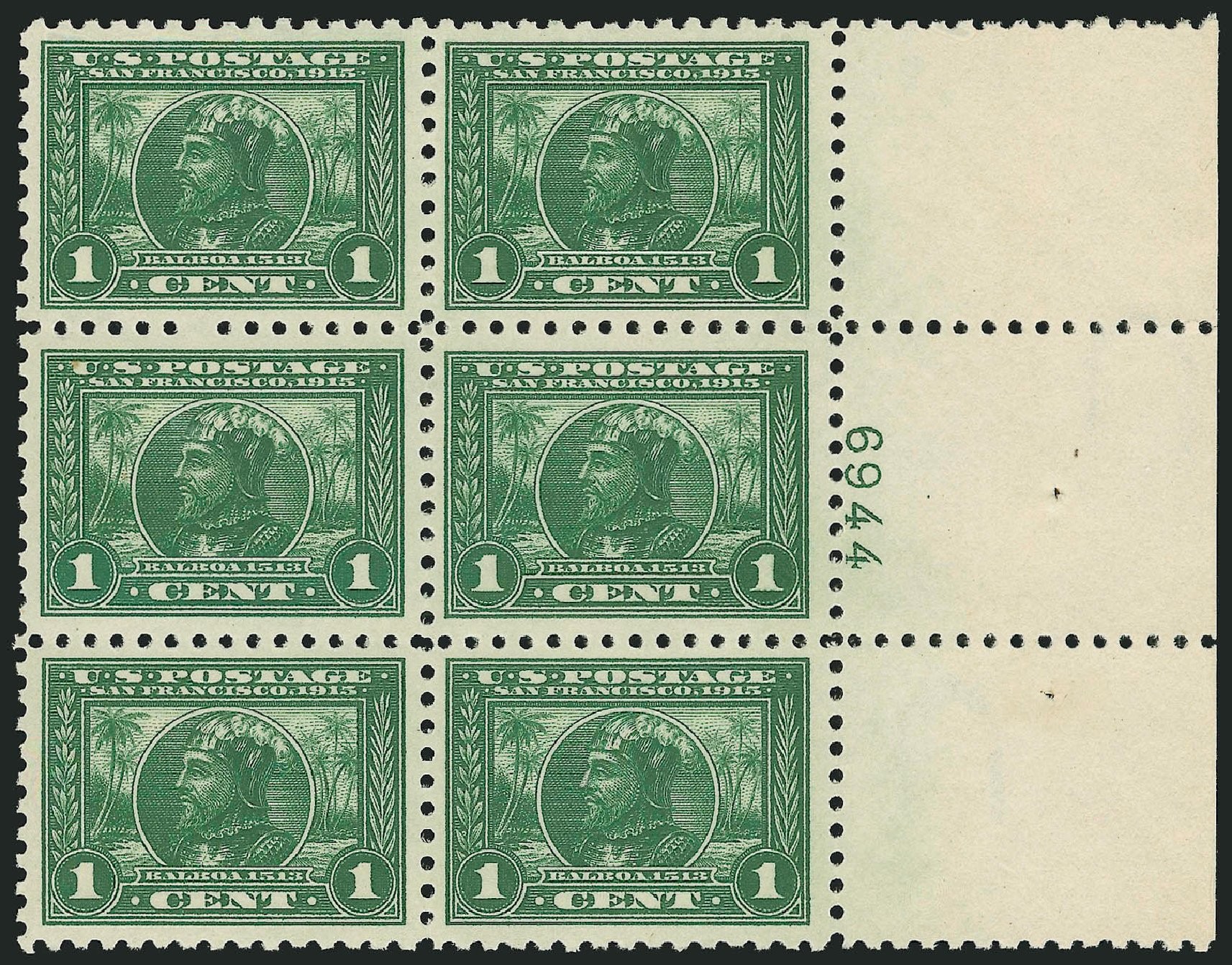 Prices of US Stamps Scott Cat. #401: 1915 1c Panama-Pacific Exposition. Robert Siegel Auction Galleries, Feb 2015, Sale 1093, Lot 243