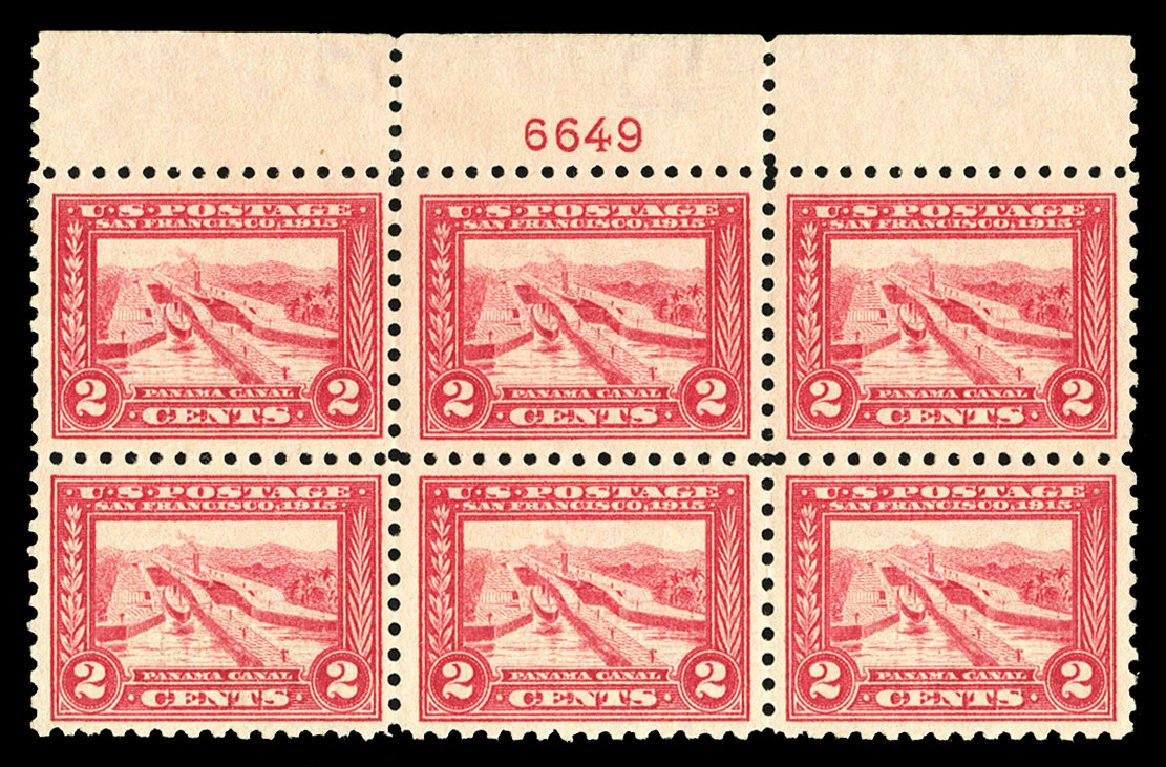 US Stamp Value Scott #402 - 2c 1915 Panama-Pacific Exposition. Cherrystone Auctions, Jul 2015, Sale 201507, Lot 2149