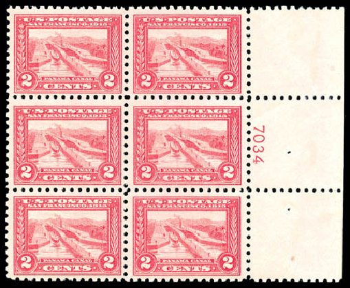 Costs of US Stamp Scott Cat. 402: 2c 1915 Panama-Pacific Exposition. Schuyler J. Rumsey Philatelic Auctions, Apr 2015, Sale 60, Lot 2919