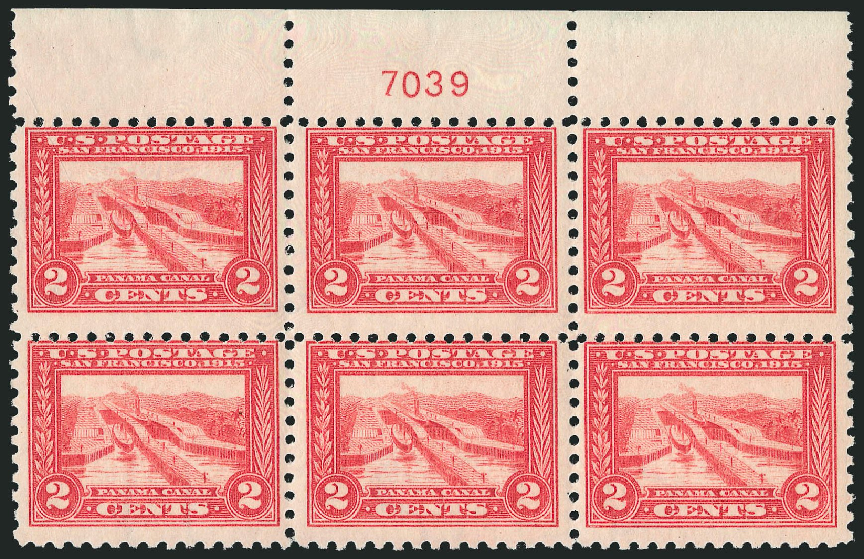 Price of US Stamps Scott Cat. 402 - 2c 1915 Panama-Pacific Exposition. Robert Siegel Auction Galleries, Oct 2014, Sale 1082, Lot 454