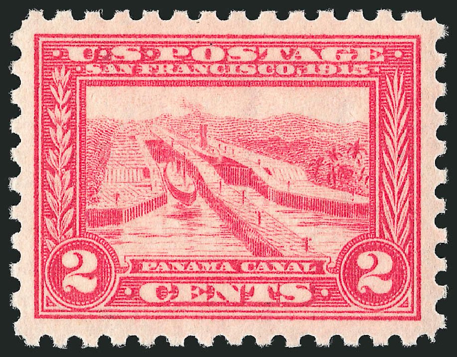 US Stamp Value Scott Catalogue 402 - 1915 2c Panama-Pacific Exposition. Robert Siegel Auction Galleries, Feb 2015, Sale 1093, Lot 244