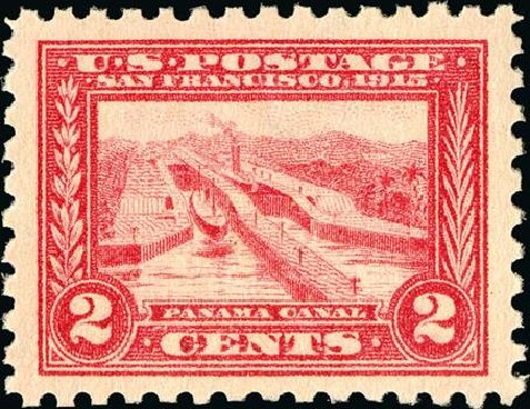 Cost of US Stamp Scott Catalog 402: 2c 1915 Panama-Pacific Exposition. Spink Shreves Galleries, Jan 2015, Sale 150, Lot 164
