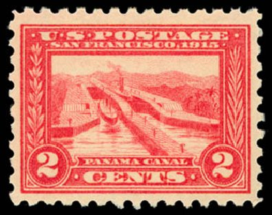Price of US Stamp Scott Catalogue # 402 - 2c 1915 Panama-Pacific Exposition. Daniel Kelleher Auctions, Dec 2014, Sale 661, Lot 332