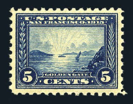 Cost of US Stamps Scott Catalog # 403 - 5c 1915 Panama-Pacific Exposition. Harmer-Schau Auction Galleries, Aug 2015, Sale 106, Lot 1800