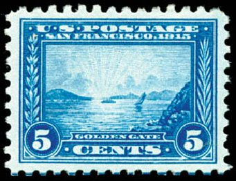 US Stamp Price Scott Cat. 403: 5c 1915 Panama-Pacific Exposition. Schuyler J. Rumsey Philatelic Auctions, Apr 2015, Sale 60, Lot 2374