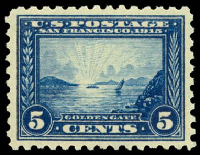 Cost of US Stamps Scott Cat. # 403: 1915 5c Panama-Pacific Exposition. Daniel Kelleher Auctions, Dec 2014, Sale 661, Lot 333