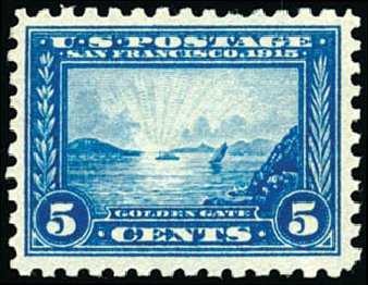 Cost of US Stamps Scott Cat. # 403 - 1915 5c Panama-Pacific Exposition. Schuyler J. Rumsey Philatelic Auctions, Apr 2015, Sale 60, Lot 2373