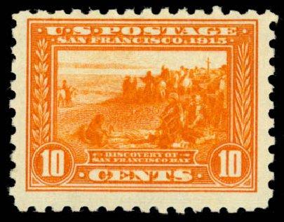 US Stamps Price Scott Catalog 404 - 1915 10c Panama-Pacific Exposition. Daniel Kelleher Auctions, Jan 2015, Sale 663, Lot 1757