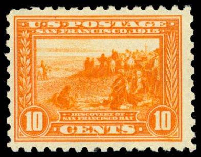 US Stamp Price Scott # 404 - 1915 10c Panama-Pacific Exposition. Daniel Kelleher Auctions, Jan 2015, Sale 663, Lot 1758