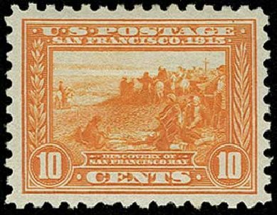 Costs of US Stamp Scott Catalogue 404 - 10c 1915 Panama-Pacific Exposition. H.R. Harmer, Jun 2015, Sale 3007, Lot 3329