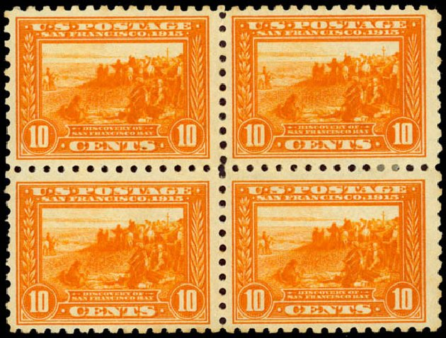 Price of US Stamp Scott 404 - 1915 10c Panama-Pacific Exposition. Daniel Kelleher Auctions, Jan 2015, Sale 663, Lot 1759