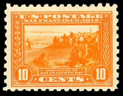 Prices of US Stamps Scott Cat. 404: 1915 10c Panama-Pacific Exposition. Daniel Kelleher Auctions, Aug 2015, Sale 672, Lot 2709