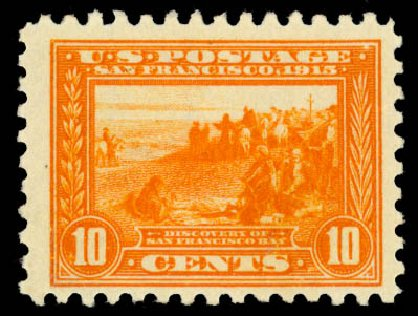 US Stamps Values Scott # 404 - 1915 10c Panama-Pacific Exposition. Daniel Kelleher Auctions, Aug 2015, Sale 672, Lot 2710