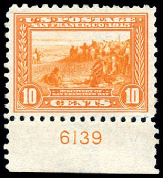 US Stamp Value Scott Catalog 404 - 10c 1915 Panama-Pacific Exposition. Schuyler J. Rumsey Philatelic Auctions, Apr 2015, Sale 60, Lot 2810
