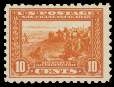 US Stamp Value Scott Cat. #404: 10c 1915 Panama-Pacific Exposition. Daniel Kelleher Auctions, May 2015, Sale 669, Lot 2981