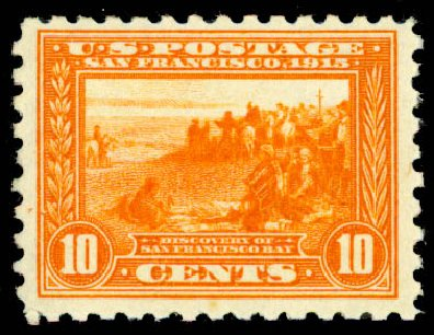 Values of US Stamp Scott Catalogue #404: 10c 1915 Panama-Pacific Exposition. Daniel Kelleher Auctions, May 2015, Sale 669, Lot 2982