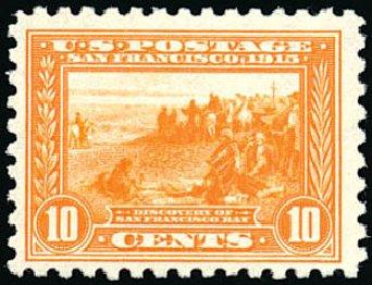 US Stamp Value Scott Catalogue #404 - 1915 10c Panama-Pacific Exposition. Schuyler J. Rumsey Philatelic Auctions, Apr 2015, Sale 60, Lot 2376