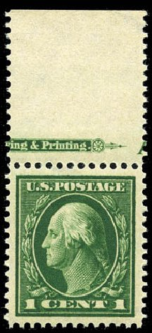 Price of US Stamp Scott Cat. 405: 1c 1912 Washington Perf 12. Matthew Bennett International, Feb 2012, Sale 340, Lot 447