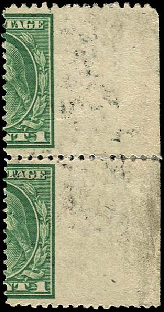 US Stamps Price Scott Cat. 405 - 1c 1912 Washington Perf 12. Regency-Superior, Jan 2015, Sale 109, Lot 1817