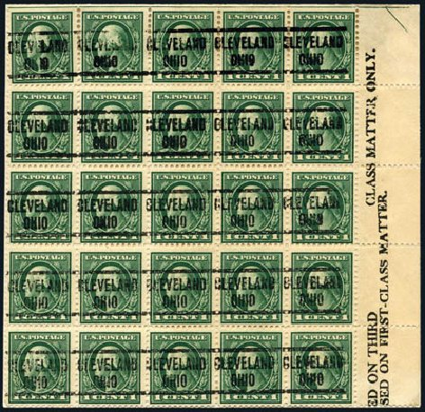 US Stamps Values Scott Catalog # 405 - 1912 1c Washington Perf 12. Harmer-Schau Auction Galleries, Aug 2011, Sale 90, Lot 1514