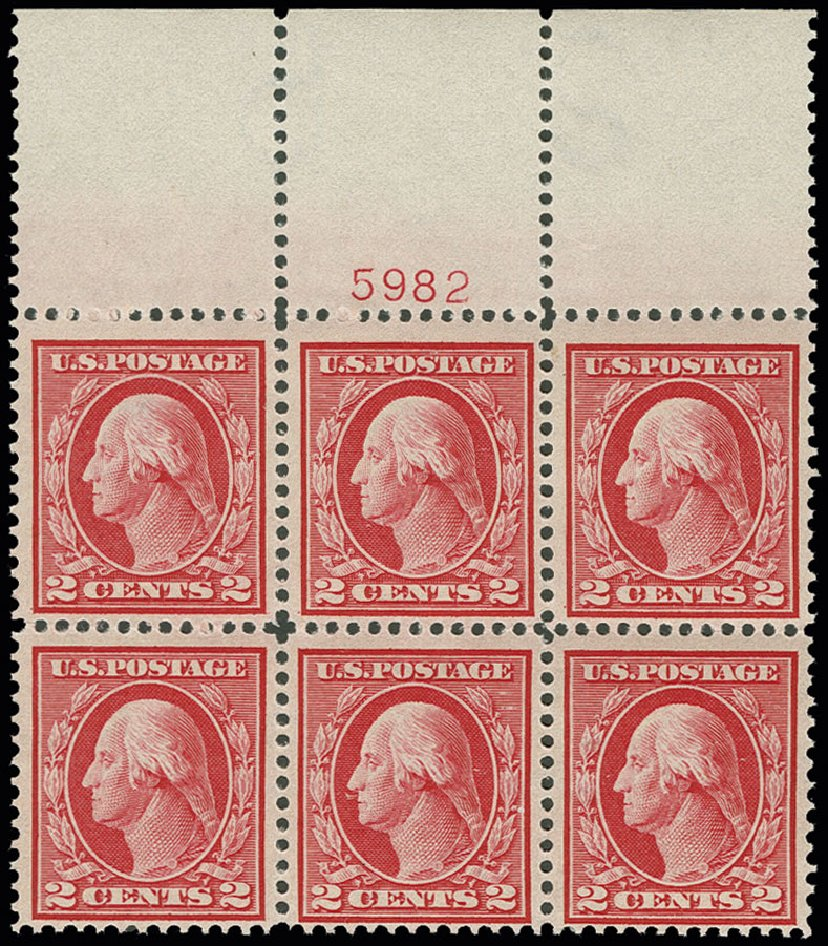 Values of US Stamps Scott Catalog #406: 1912 2c Washington Perf 12. H.R. Harmer, Jun 2013, Sale 3003, Lot 1289