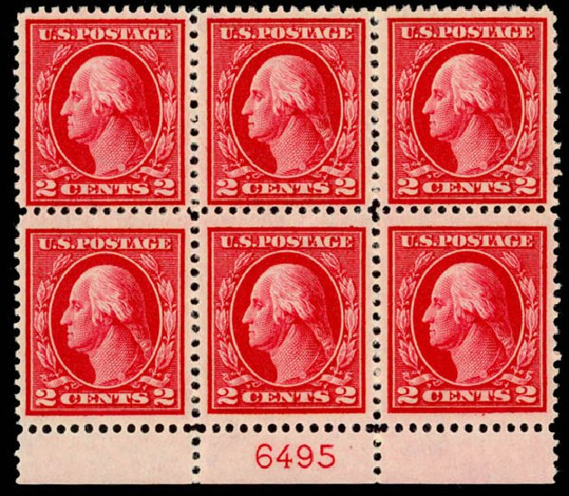 US Stamp Values Scott Catalog 406: 2c 1912 Washington Perf 12. Daniel Kelleher Auctions, Sep 2014, Sale 655, Lot 669