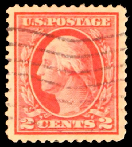 Values of US Stamp Scott Catalogue 406: 1912 2c Washington Perf 12. Daniel Kelleher Auctions, May 2014, Sale 652, Lot 611