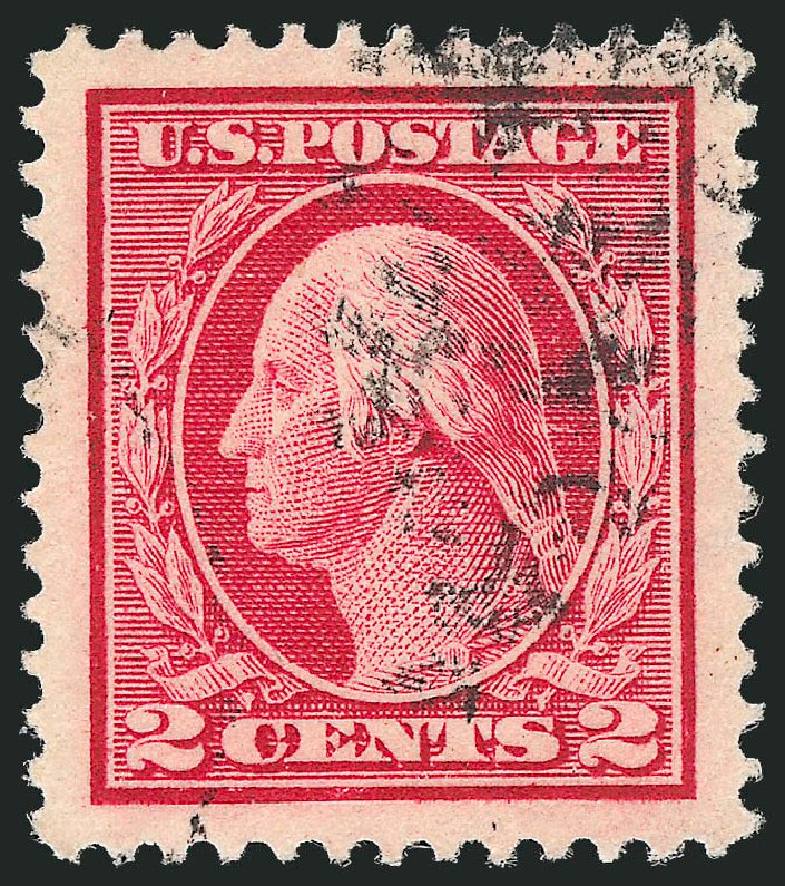 US Stamps Values Scott Cat. # 406 - 2c 1912 Washington Perf 12. Robert Siegel Auction Galleries, Oct 2012, Sale 1032, Lot 3512