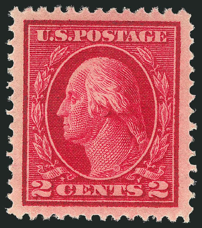 Cost of US Stamp Scott Cat. 406: 1912 2c Washington Perf 12. Robert Siegel Auction Galleries, Dec 2013, Sale 1062, Lot 592