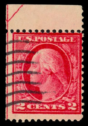 US Stamp Prices Scott Cat. 406: 2c 1912 Washington Perf 12. Daniel Kelleher Auctions, Dec 2013, Sale 640, Lot 366