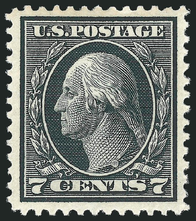 Cost of US Stamps Scott Catalogue 407 - 7c 1914 Washington Perf 12. Robert Siegel Auction Galleries, Nov 2013, Sale 1061, Lot 3898