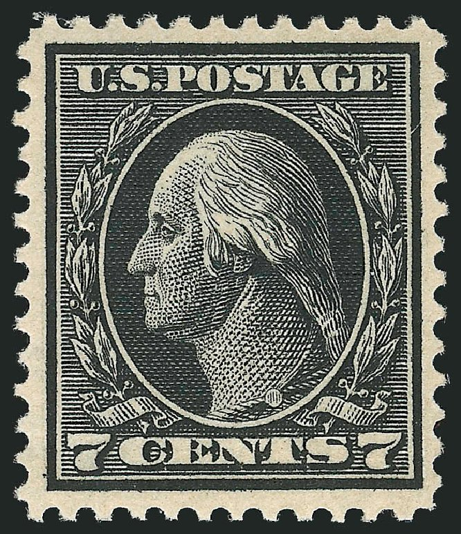 Values of US Stamp Scott Catalog # 407: 7c 1914 Washington Perf 12. Robert Siegel Auction Galleries, Dec 2014, Sale 1090, Lot 1498