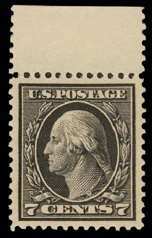 Costs of US Stamp Scott Catalogue #407: 1914 7c Washington Perf 12. H.R. Harmer, May 2014, Sale 3005, Lot 1269