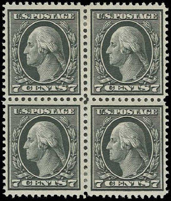 Price of US Stamp Scott # 407 - 1914 7c Washington Perf 12. H.R. Harmer, Jun 2013, Sale 3003, Lot 1290