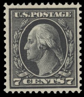 Costs of US Stamp Scott Catalog #407 - 7c 1914 Washington Perf 12. Daniel Kelleher Auctions, Aug 2015, Sale 672, Lot 2711