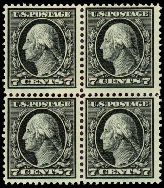 Value of US Stamps Scott Catalogue #407: 7c 1914 Washington Perf 12. Daniel Kelleher Auctions, Jan 2015, Sale 663, Lot 1764