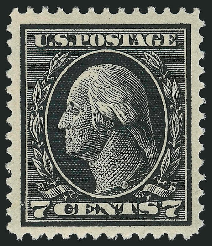 Prices of US Stamps Scott Cat. 407: 1914 7c Washington Perf 12. Robert Siegel Auction Galleries, Mar 2014, Sale 1067, Lot 1494