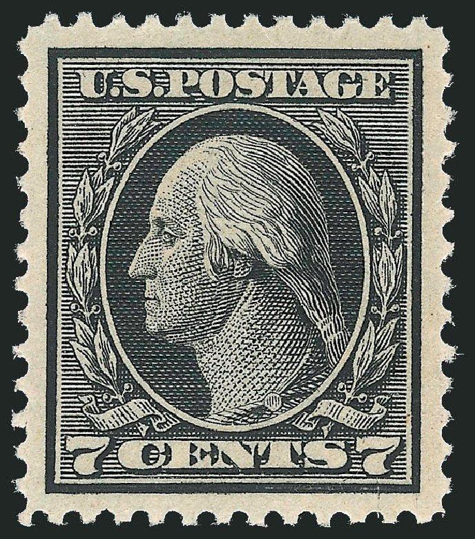 US Stamp Value Scott Catalogue # 407: 1914 7c Washington Perf 12. Robert Siegel Auction Galleries, Dec 2013, Sale 1062, Lot 595