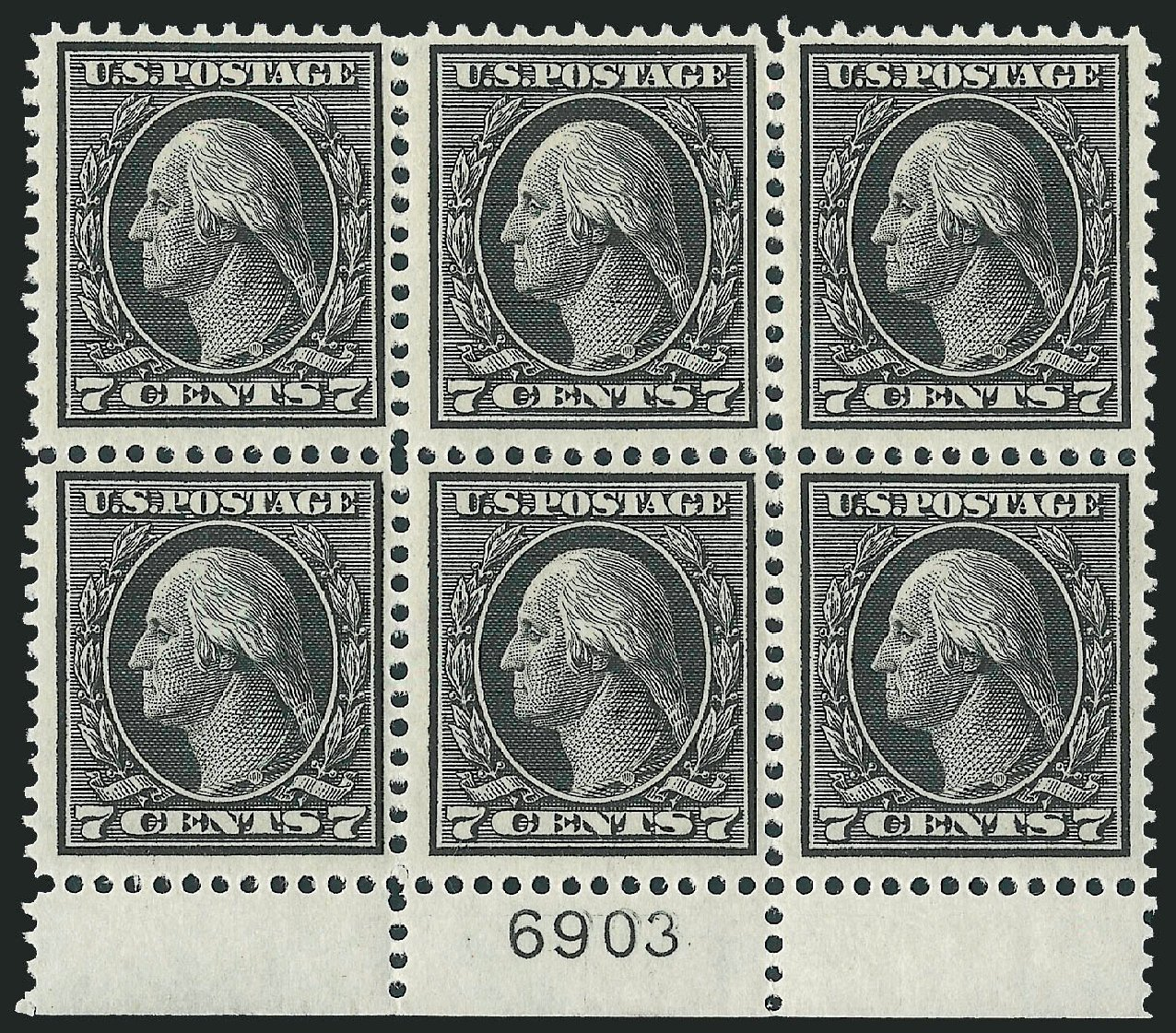 Costs of US Stamps Scott Catalog # 407: 7c 1914 Washington Perf 12. Robert Siegel Auction Galleries, Mar 2014, Sale 1067, Lot 1495