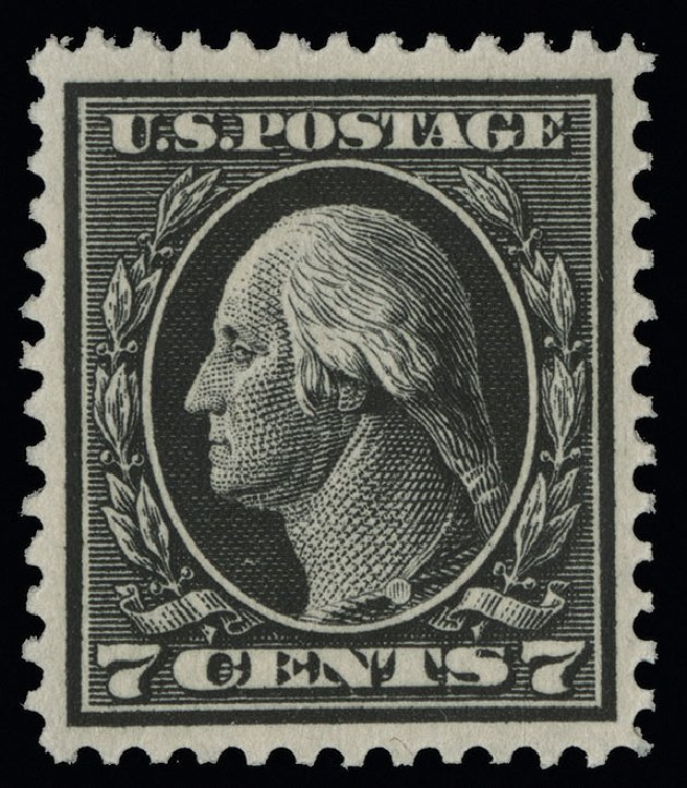US Stamps Value Scott #407 - 7c 1914 Washington Perf 12. Spink Shreves Galleries, Aug 2013, Sale 144, Lot 233