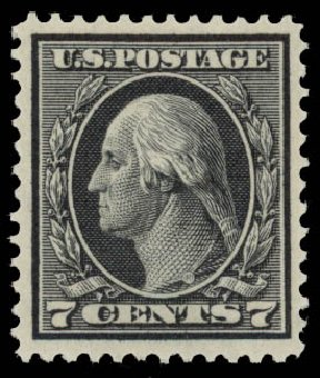 Price of US Stamps Scott # 407: 1914 7c Washington Perf 12. Daniel Kelleher Auctions, May 2015, Sale 669, Lot 2986