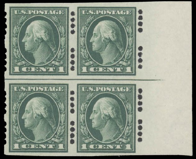 Prices of US Stamps Scott # 408 - 1912 1c Washington Imperf. Daniel Kelleher Auctions, Aug 2015, Sale 672, Lot 2712