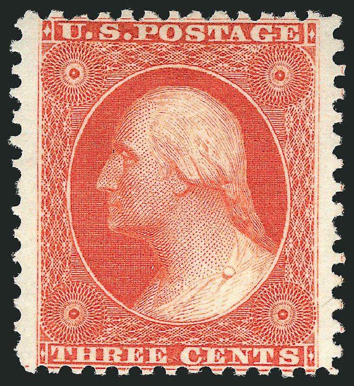 Values of US Stamps Scott Cat. #41 - 1875 3c Washington Reprint. Robert Siegel Auction Galleries, Apr 2015, Sale 1096, Lot 97