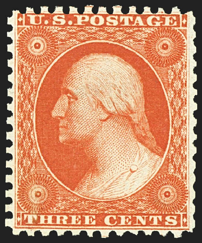 Price of US Stamps Scott Catalog #41: 1875 3c Washington Reprint. Robert Siegel Auction Galleries, Jul 2015, Sale 1107, Lot 109