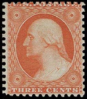 Prices of US Stamp Scott Catalogue # 41: 1875 3c Washington Reprint. H.R. Harmer, Oct 2014, Sale 3006, Lot 1081